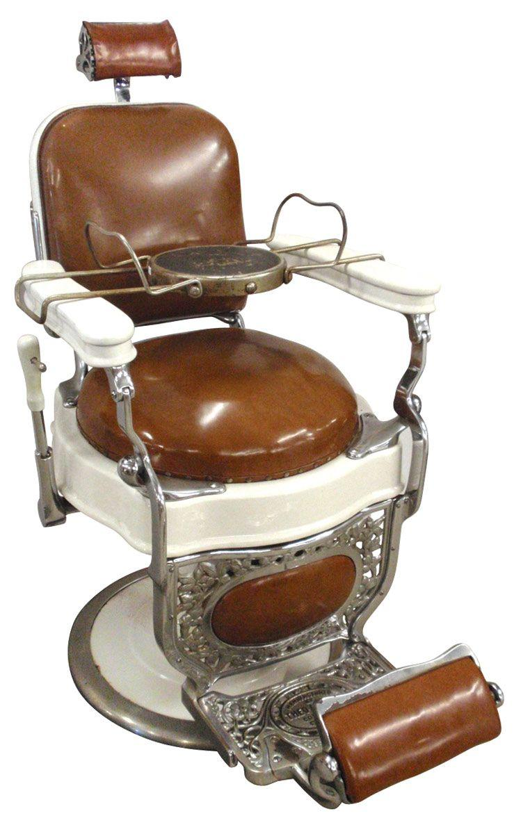 Image 1 : Barber Chair, Mfgd By Theo Koch Chicago, White Porcelain W