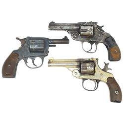 Revolvers (3), Forehand Arms: 32 cal, 5 shot, double action, nickel-plated, S/N 269485, Harrington a