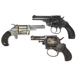 Revolvers (3), Forehand British Bulldog , 32 cal,7 shot, double action, S/N2250, Poor cond, Ranger N