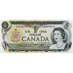 BANK OF CANADA.  $1.00.  1973 Issue.  BC-46aA-i.  No. EAX0679616.  Litho.  Unc.