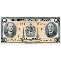 THE ROYAL BANK OF CANADA. $10.00. 1935. CH-630-18-04a. No. 1546803/B. PMG graded Choice Extra Fine-4