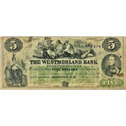 THE WESTMORLAND BANK OF NEW BRUNSWICK. $1.00. 1861 Issue. CH-800-12-06R. No. 14041. PMG graded Very
