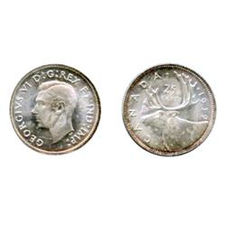 1939.  ICCS Mint State-64.  A brilliant and frosty twenty-five cents piece. (This example with an er