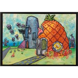 SpongeBob Art Giclee WATERLOGGED CABIN Douglas Truth