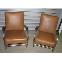 Pair of Royalchrome Modernist Chairs