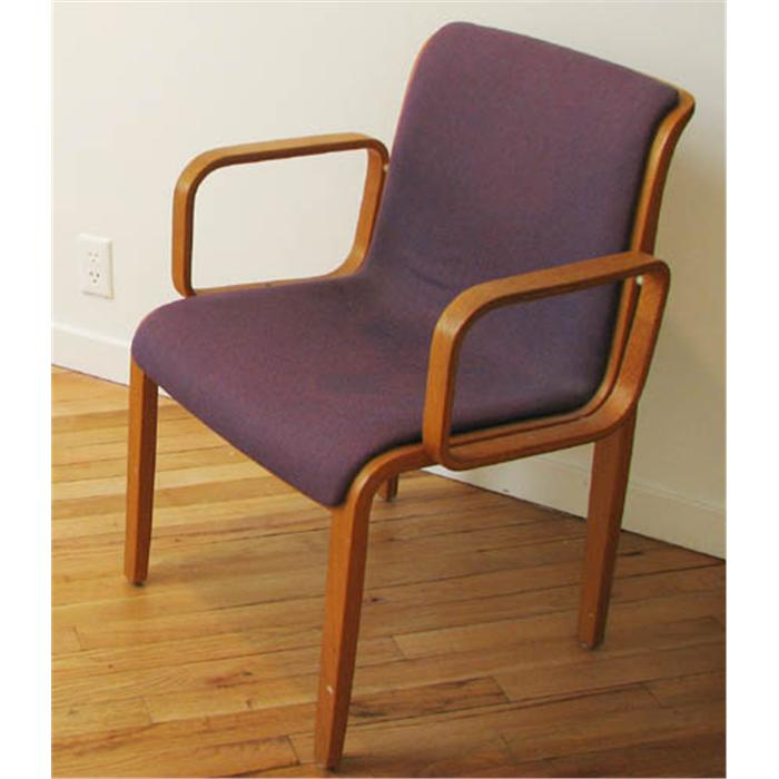 ... Image 6 : Pair Of Purple William Stephens For Knoll Chairs
