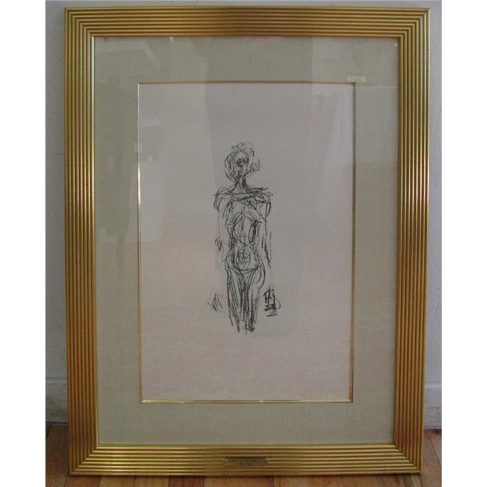 Alberto giacometti standing nude from derriere le miroir for Miroir winners