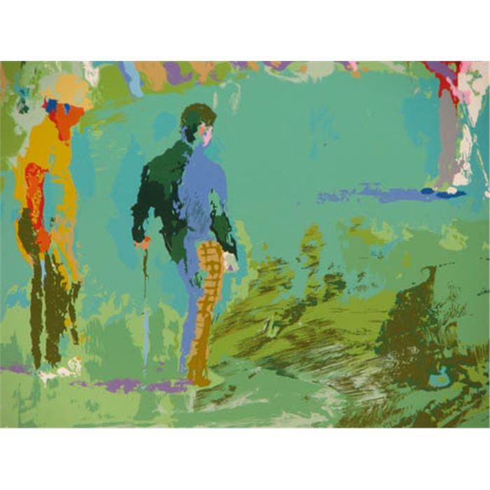 leroy neiman orig serigraph golf landscape. Black Bedroom Furniture Sets. Home Design Ideas