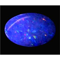 0.97ct Australian Black Opal Doublet Full Fire (GEM-22612A)