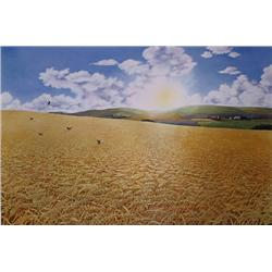 Raymond Hosford, For Amber Waves Of Grain, Lithograph