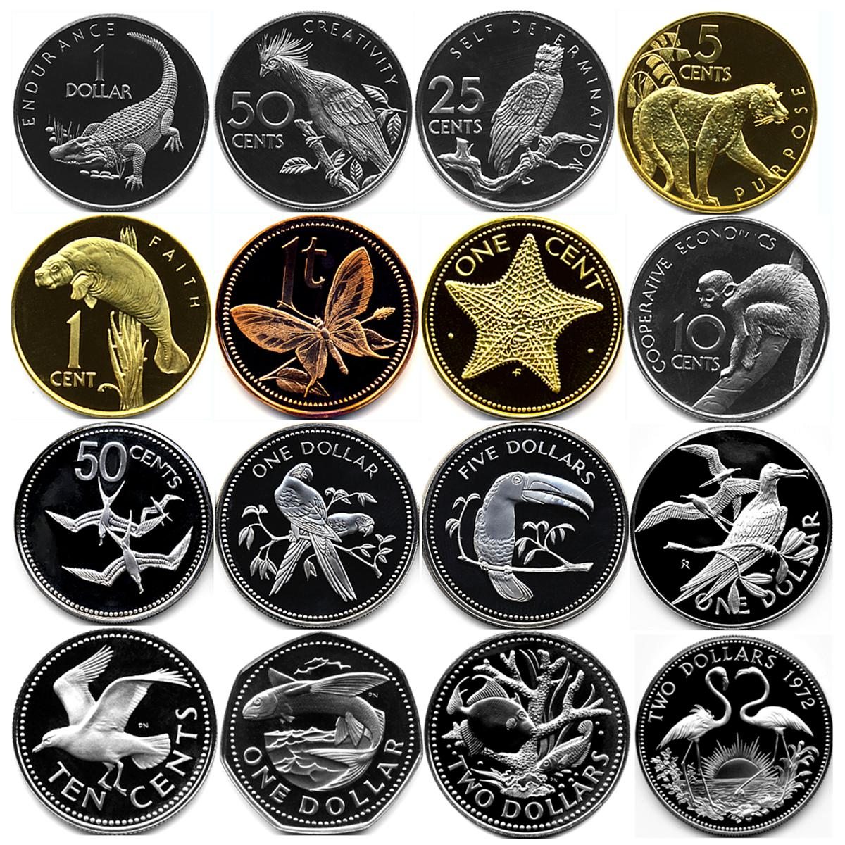 16 animal proof coins from around the worldapproximately
