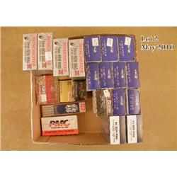 Bonanza lot of handgun ammunition including four  boxes of 7mm Rem. Mag.; two boxes of .44 Rem.  Mag