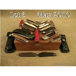 Lot of approx. 19 misc. pocket knives in varying  condition from fair to very good including a Buck
