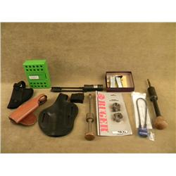 Misc. gun accessories lot including S & W cleaning  rods and screwdrivers; several cable locks; Ruge