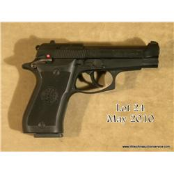 "Beretta model 85F DA semi-auto pistol, 9 mm short  cal., 3-3/4"" barrel, black finish, checkered  Ber"