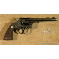 "Colt Officer's Model Target DA revolver, heavy  barrel, .38 Special cal., 6"" barrel, blue finish,  c"