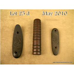 Lot of three gun parts including the wood fore end  for a pump Winchester .22 rifle (Model 90 or  '0