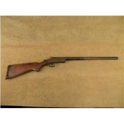 "Eastern Arms top break single shot shotgun, 16  gauge, 21"" barrel, missing forend, blue and case  ha"