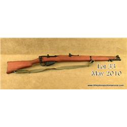 "British military Enfield bolt action rifle, .303  British cal., 25"" barrel, military mat finish,  wo"