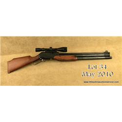 "Shinsung Industries Co. Career Ultra Model air  rifle, 9mm cal., 23"" barrel, black finish,  checkere"