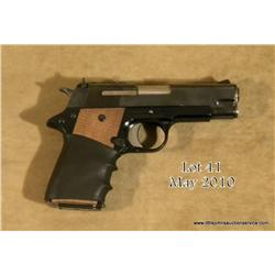 "Star Model PD semi-auto pistol, .45 cal., 4""  barrel, blue finish, checkered wood grips with  finger"