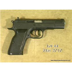 Witness DA semi-auto pistol, .38 cal., mat black  finish, stippled black hard rubber grips,  #AE8490