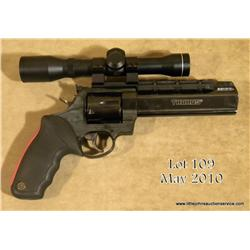 Taurus Raging Bull 44 Magnum http://www.icollector.com/Taurus-Raging-Bull-Model-DA-revolver-44-Magnum-cal-6-1-2-barrel-with-built-in-compensator-bl_i9480575
