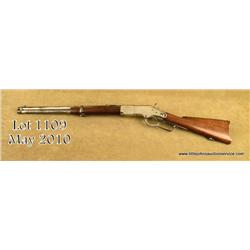 Winchester model 1866 special order carbine, .44  rimfire caliber, full nickel finish, select wood