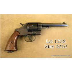"Colt Model 1901 .38 cal., DA revolver, U.S.  military issue pistol, blue finish, wood grips, 6""  bar"
