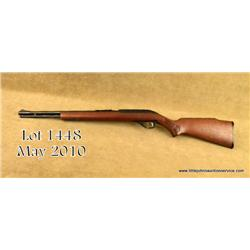 "Glenfield/Marlin Model 75C semi-auto rifle, .22LR  cal. only, 18"" barrel, black finish, wood stock,"