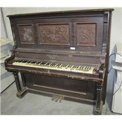 Antique Stultz & Bauer Upright Grand Piano