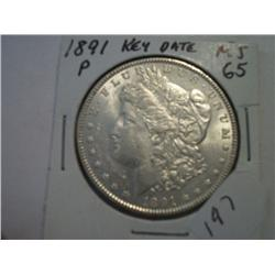 1891-P MORGAN DOLLAR