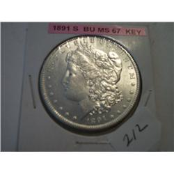 1891-S MORGAN DOLLAR