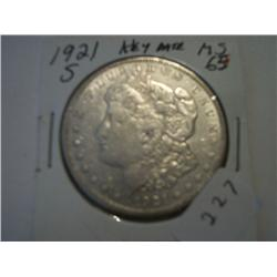 "1921-S""MORGAN DOLLAR"