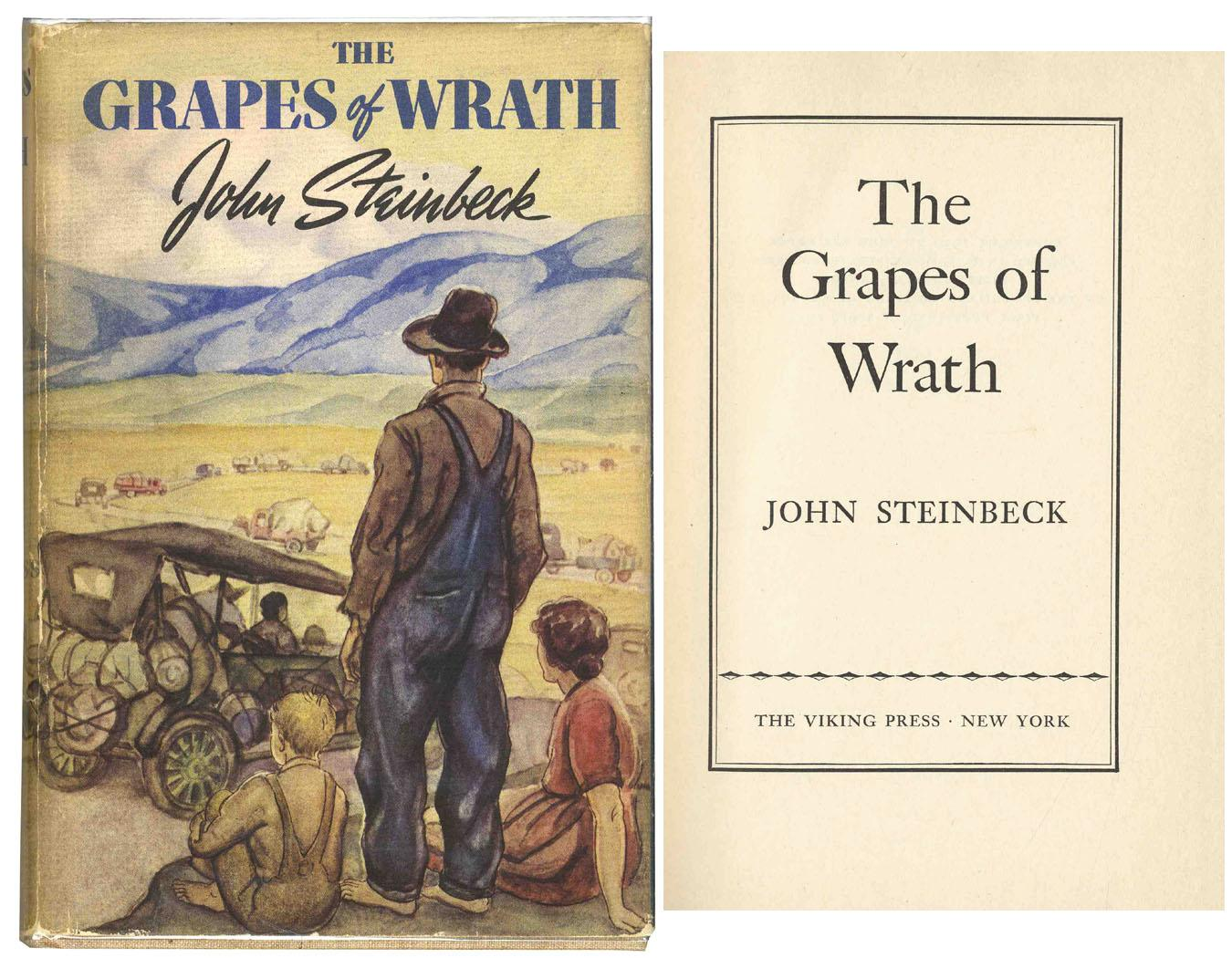 the political themes in the grapes of wrath a novel by john steinbeck Read common sense media's the grapes of wrath review, age rating, and  of  the forces that shaped the massive migration west and fed growing political,  economic,  john steinbeck, who won the nobel prize in literature in 1962,  alternates  families can talk about the themes of economic disparity and power  during.