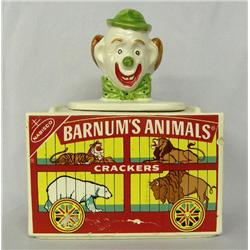 USA Made Barnum's Animal Crackers Pottery Jar