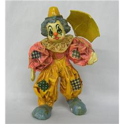 Mexican Paper Mache Clown Figure