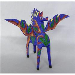 Oaxacan Alebrije Flying Horse by Cruz Sosa