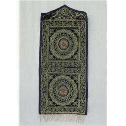 India Silk Stitched Fabric 2-Pocket Wall Hanger
