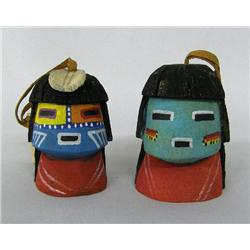 2 Hopi Kachina Head Ornaments By Bryan Kagemeama