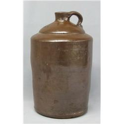 Brown Crock Jug With Handle