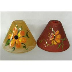 2 Glass Hand Painted Lamp Shades By Kills Thunder
