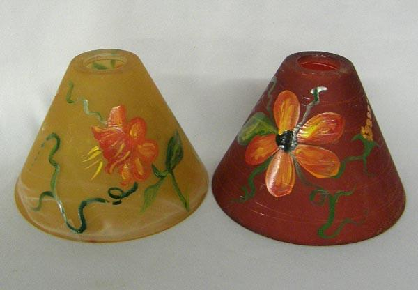 2 glass hand painted lamp shades by kills thunder image 2 2 glass hand painted lamp shades by kills thunder aloadofball Choice Image