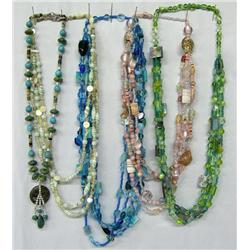 5 Hand Beaded Necklaces By Kills Thunder