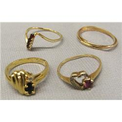 4 Gold Rings