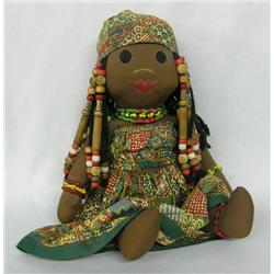 Black African Cloth Doll