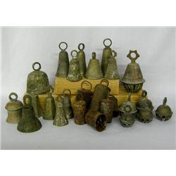 25 Vintage Brass & Metal Assorted Bells