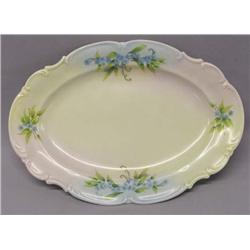 Bavaria Germany Hand Painted Platter Signed