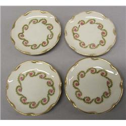 4 Antique Alice Austria Porcelain Butter Plates
