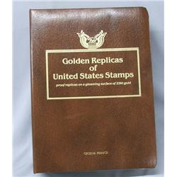 Golden Replicas Of US Stamps 22Kt Gold Surface